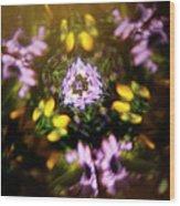 Flowers Thru Kaleidiscope Wood Print