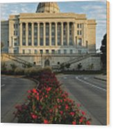Flowers To The Capital Wood Print