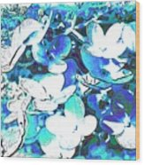 Flowers With A Difference Wood Print by TinaDeFortunata