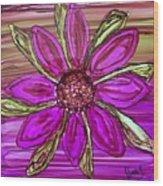 Flowerscape Dahlia Wood Print