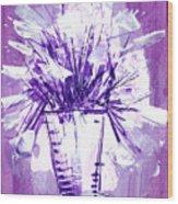 Flowery Purple II Wood Print