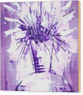 Flowery Purple IIi Wood Print