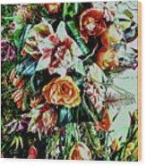 Flowing Bouquet Wood Print