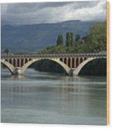 Flowing Bridge Wood Print