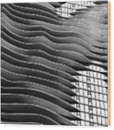 Flowing Facade Wood Print