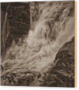 Flowing Force Wood Print