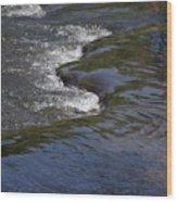 Flowing River Wood Print