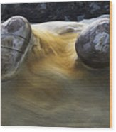 Flowing Rock 4 Wood Print