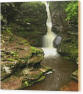 Flowing Toward The Red Rocks Wood Print