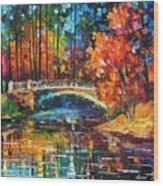 Flowing Under The Bridge  Wood Print