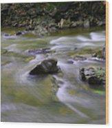Flowing Water 2 Wood Print