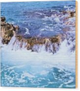 Flowing Water In The Cayman Islands # 4 Wood Print