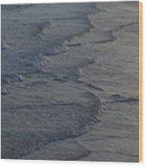 Flowing Waves  Wood Print