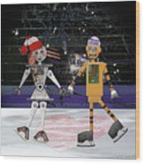 Floyd And Zoe's Skate Date Wood Print