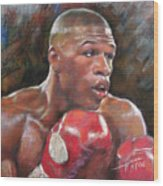 Floyd Mayweather Jr Wood Print by Ylli Haruni
