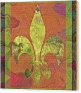 Fluer De Lis Wood Print