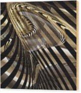 Fluid Matal Wood Print