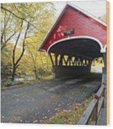 Flume Bridge Lincoln New Hampshire Wood Print