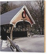 Flume Covered Bridge - Lincoln New Hampshire Usa Wood Print