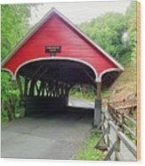 Flume Covered Bridge Wood Print