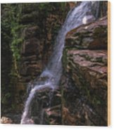 Flume Gorge Waterfall Wood Print
