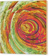 Fluorescent Wormhole Wood Print