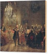 Flute Concert With Frederick The Great In Sanssouci Wood Print
