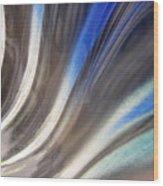 Fluted Blue Wood Print