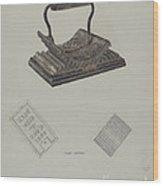 Fluting Iron Wood Print