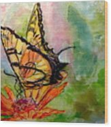 Flutterby - Watercolor Wood Print