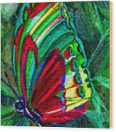 Fly Butterfly Wood Print