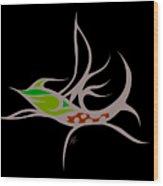 Fly Fish Fly Wood Print