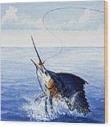 Fly Fishing For Sailfish Wood Print