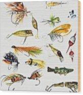 Fly Fishing I Wood Print