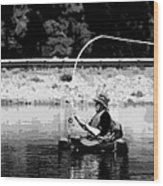 Fly Fishing Lesson Wood Print