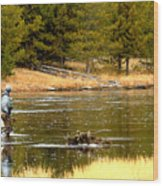 Fly Fishing On The Madison Wood Print