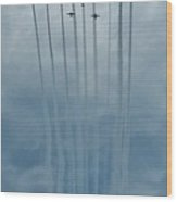 Fly Guy Formation Wood Print