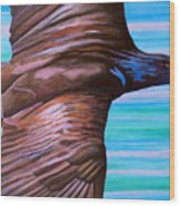 Fly Like An Eagle Wood Print