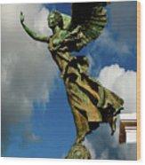 Flying Angel Wood Print