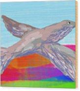 Flying Bird II Wood Print