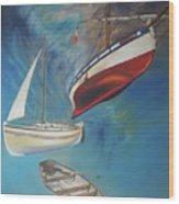 Flying Boats Wood Print