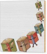 Flying Books02 Wood Print