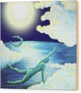 Flying Dream 2 Wood Print by Barbara Stirrup