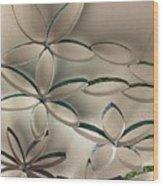 Flying Flowers Wood Print