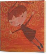 Flying Fredericka Wood Print