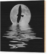 Flying Hawk 2 Wood Print