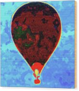 Flying High - Hot Air Balloon Wood Print