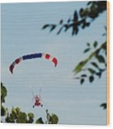 Paraplane Flying High Wood Print