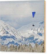 Flying High In Kandersteg, Switzerland Wood Print
