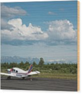 Flying In Alaska Wood Print